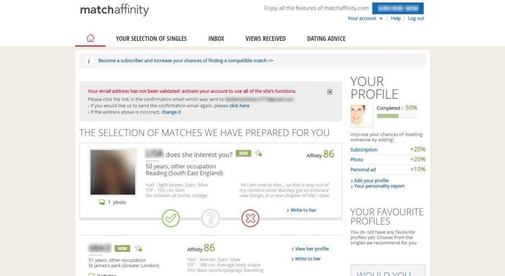 MatchAffinity interface