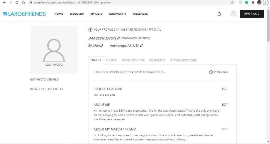 Largefriends profile