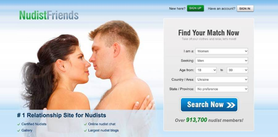 Nudistfriends sign up